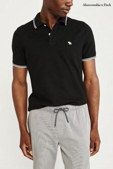 Abercrombie & Fitch Black Poloshirt