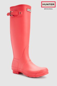 Hunter Original Pink Matte Tall Welly