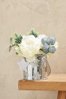Snowflake Floral Tin
