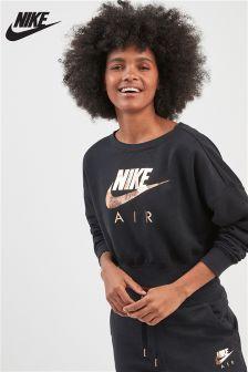 Nike Black Air Fleece Crew