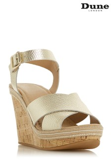 Dune London Gold Karlotta Wedge Shoe