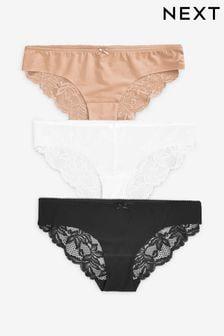 Panties Underwear 4 Pack LADIES Cotton rich High leg knickers Size 12-18 Briefs