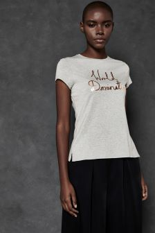 Ted Baker Ted Says Relax Grey Slogan Tee