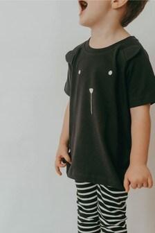 Turtledove London Organic Cotton Black Bear T-Shirt