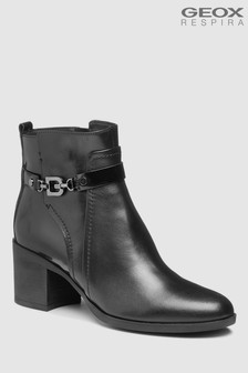 Geox Glynna Black Heeled Ankle Boot