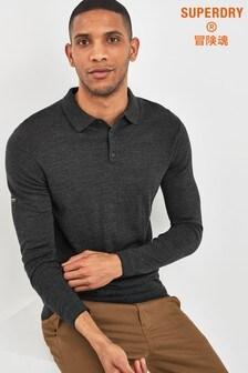 Superdry Grey Merino Poloshirt