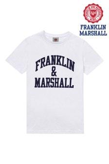 Franklin & Marshall White Vintage Arch T-Shirt