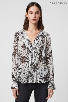 AllSaints White Butterfly Sheril Blouse