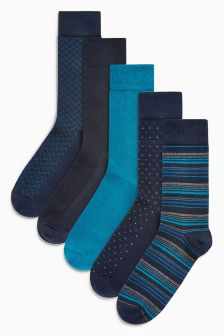Small Pattern Socks Five Pack