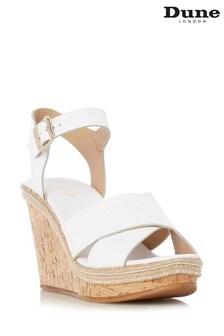 Dune London White Karlotta Wedge Shoe