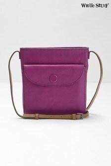 White Stuff Purple Mimi Leather Cross Body Bag