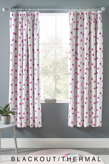 Polka Dot Pencil Pleat Curtains