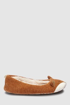 Chaussons style ballerines motif personnage