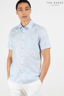 Ted Baker Civiche Plain Linen Blend Shirt