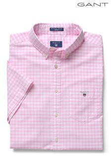 GANT Pink Oxford Gingham Shirt