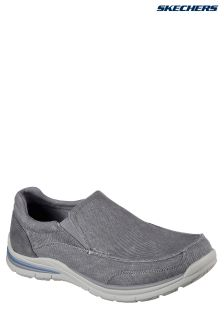 Skechers® Grey Elent Velago Leather Lace-Up