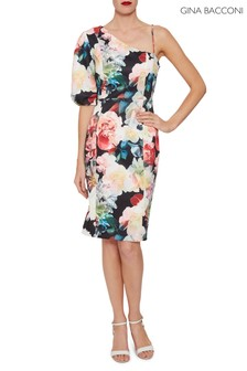 Gina Bacconi Blue Lelia Floral Scuba Dress