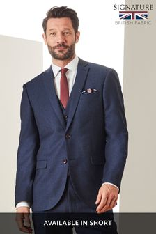 Empire Mills Signature British Wool Flannel Suit: Jacket
