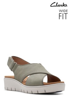 Clarks Wide Fit Green Un Karely Sun Sandal