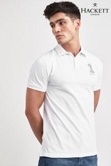 Hackett White New Classic Short Sleeve Polo