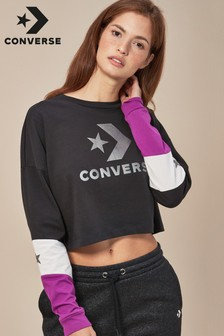 Converse Colourblock Long Sleeve Tee