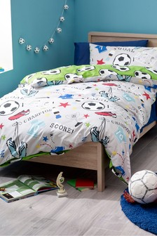 Football Duvet Cover and Pillowcase Set