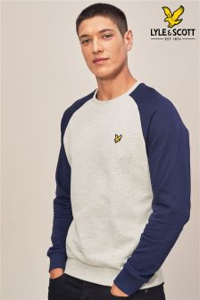 Lyle & Scott Grey/Navy Raglan Sweatshirt