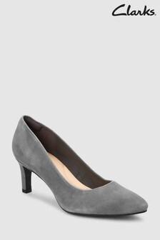 Clarks Suede Calla Rose Court Shoe