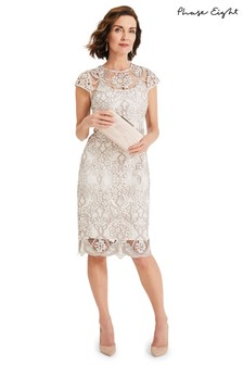 37d8b20f1c5e Phase Eight Cream Frances Lace Dress