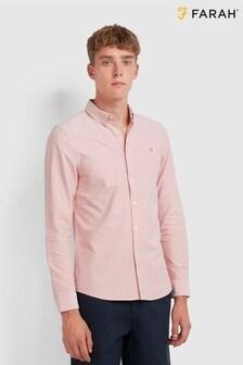 Farah Peach Brewer Slim Fit Shirt