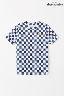 Abercrombie & Fitch Monochrome Checkerboard T-Shirt