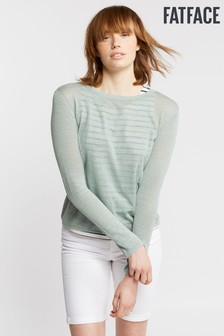 FatFace Stripe Knit Mix Jumper