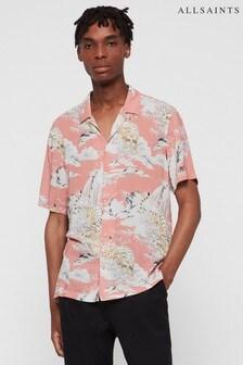 AllSaints Pink Borneo Tiger Print Shirt