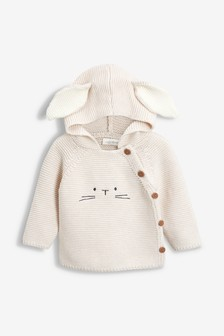 Hooded Bunny Jumper (0mths-2yrs)