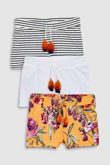 Tassel Shorts Three Pack (3-16yrs)