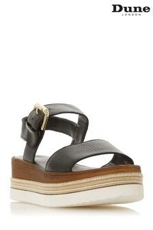 Dune London Black Leather Shoe