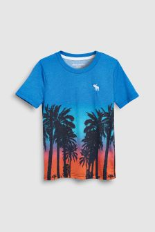 Abercrombie & Fitch Blue Palm Tree T-Shirt
