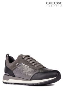 Geox Aneko Amphibiox Waterproof Dark Grey Trainer