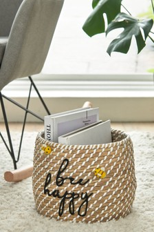 Bee Happy Storage Basket