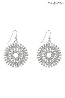Accessorize Catherine Wheel Diamanté Earrings