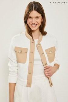 Mint Velvet Ivory Blocked Casual Jacket