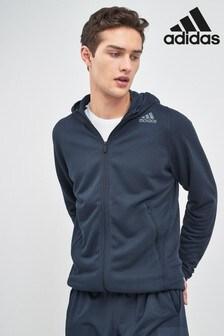 adidas Herren Kapuenpullover Own the Run Hoodie Grey