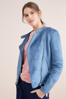 Suedette Collarless Jacket
