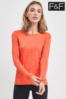F&F Orange Soft Touch Long Sleeve Top