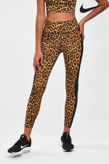 Nike 7/8-Leggings mit Leopardenmuster