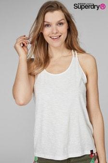 Superdry Cream Macrame Summer Vest