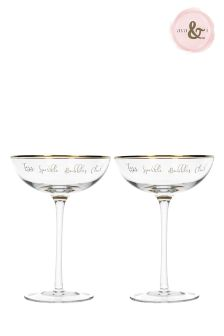 2 Pack Ava & I Champagne Saucers