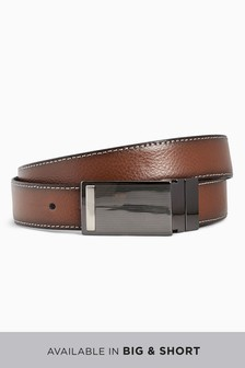 Reversible Leather Plaque Belt