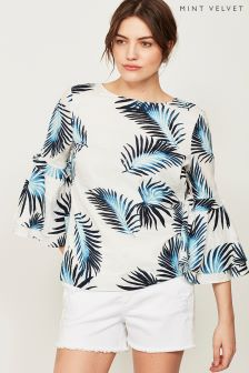 Mint Velvet Joy Print Triple Tier Blouse
