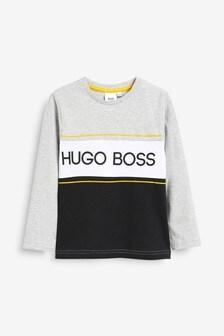 BOSS by Hugo Boss Grey Block Sweat